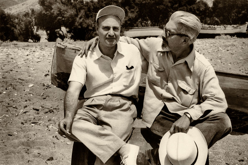 ΑΝΔΡΕΑΣ ΕΜΠΕΙΡΙΚΟΣ μαζί με Ελύτη στην Άνδρο το 1955