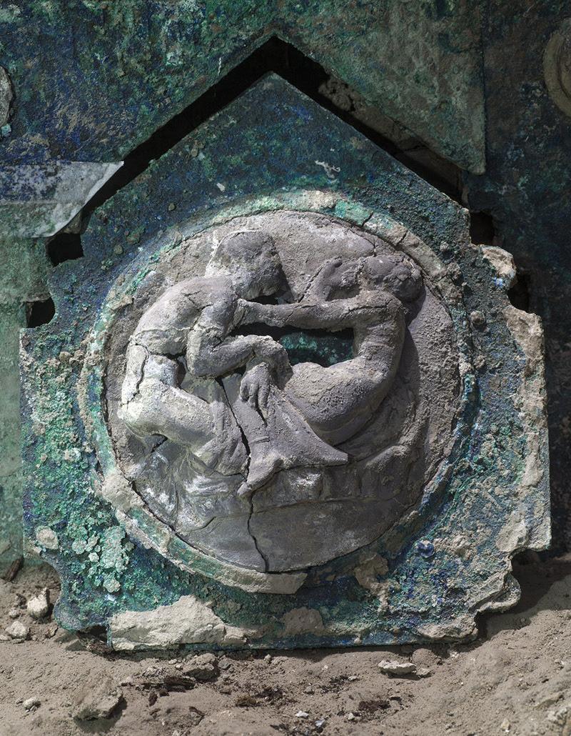 ανακαλύφθηκε άρμα κοντά στο αρχαιολογικό πάρκο της Πομπηίας