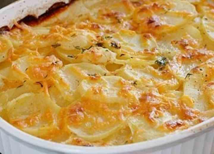 Γαρνιτούρα πατάτες γκρατινέ