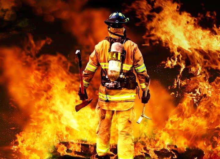 Για τον πυροσβέστη που κάηκε…