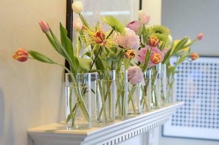 ΛΟΥΛΟΥΔΙΑ ΣΤΟ ΣΠΙΤΙΚΟ ΜΑΣ - flowers in glass