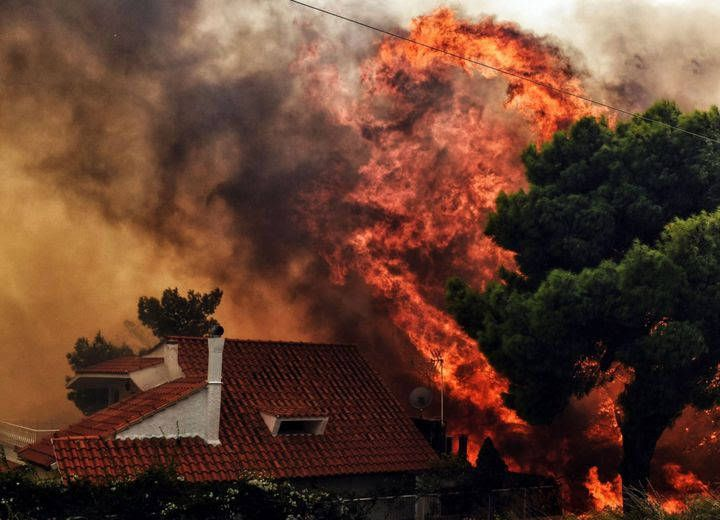 mati full of tears from the deadly fires. kineta the sad days for greece