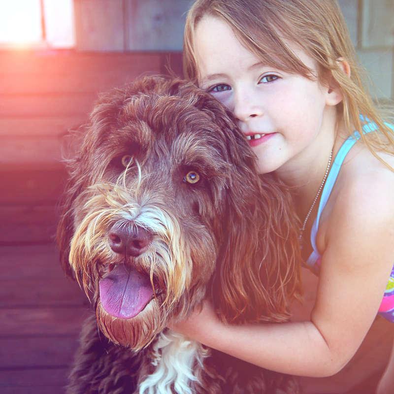 Μικρό παιδί, Μεγάλο σκυλί: Γιατί είναι καλό να συμβιώνουν! dog n little girl