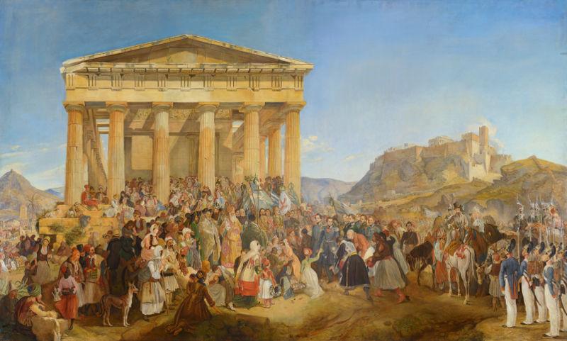 ΜΟΥΣΕΙΟ ΜΠΕΝΑΚΗ: king othonas of greece in athens