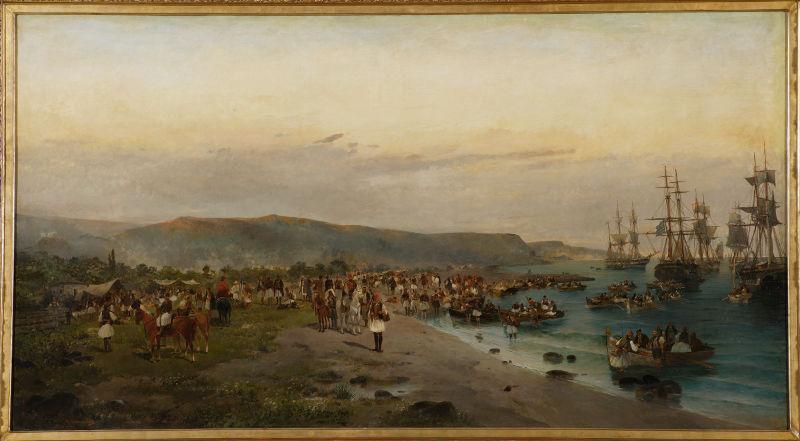 ΜΟΥΣΕΙΟ ΜΠΕΝΑΚΗ: landing of karaiskakis at faliro