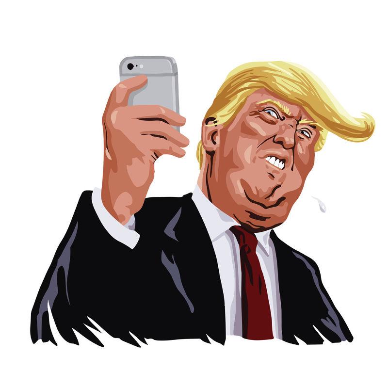 trump mobile - social media