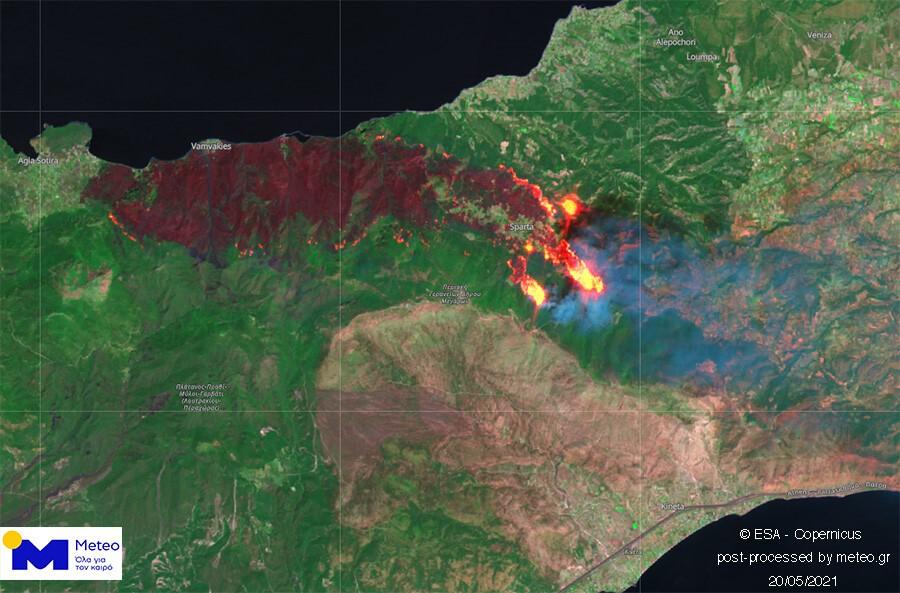 Φωτιές, πυρκαγιές και διαβρώσεις στην Ελλάδα.