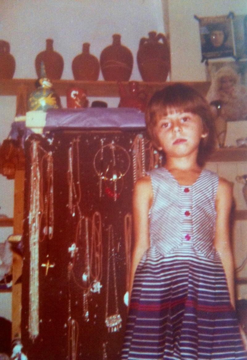 Η Ζήνα Κουτσελίνη στο σπίτι τις σε πολύ μικρή ηλικία
