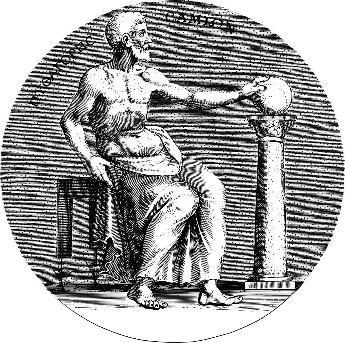 Κοντά στον Θαλή ο Πυθαγόρας έμαθε μαθηματικά, γεωμετρία κι όσα έχουνε σχέση με τους αριθμούς και τους υπολογισμούς.