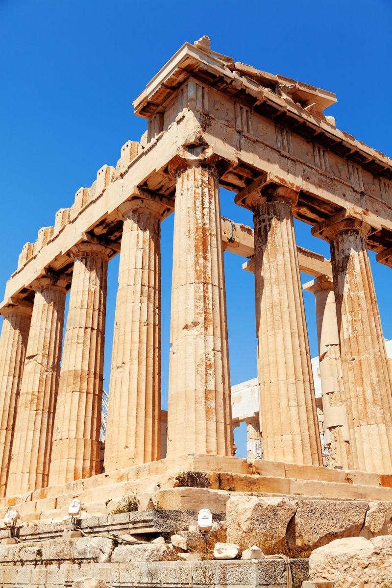 Parthenon temple that dominates the Acropolis at Athens