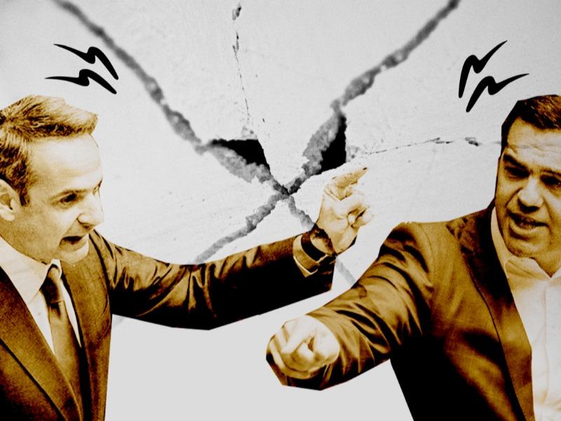 Ο Κυριάκος Μητσοτάκης σε υψηλούς τόνους στη Βουλή και αντεπίθεση σε πολιτικό επίπεδο με τον Τσίπρα
