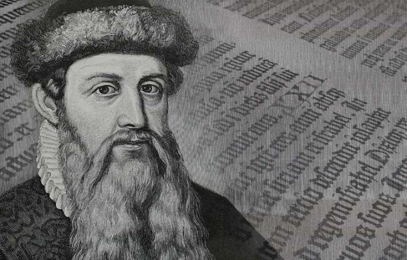 Johannes Gutenberg ή Ιωάννης Γουτεμβέργιος  θεωρείται ο «πατέρας» της μηχανικής εκτύπωσης